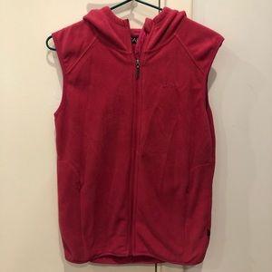 Kids pink fleece zip up vest size 10 from cape